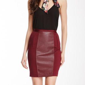 Ted Baker Leather Panel Skirt